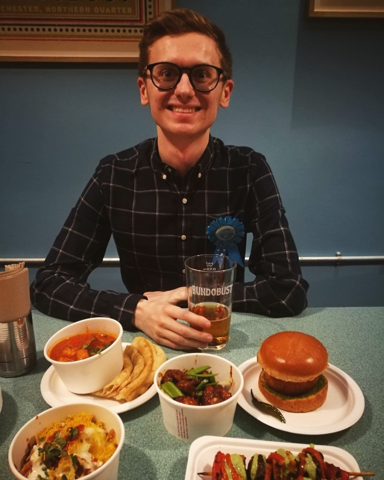 Enjoying a meal out for my birthday